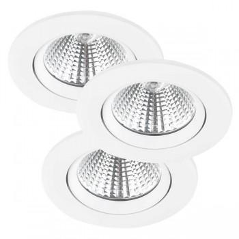 Nordlux Energetic Fremont Triple 2700K Adjustable White LED Downlight Kit