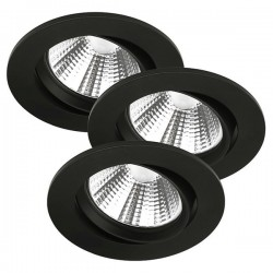 Nordlux Energetic Fremont Triple 2700K Adjustable Black LED Downlight Kit
