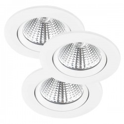 Nordlux Energetic Fremont Triple 4000K Adjustable White LED Downlight Kit