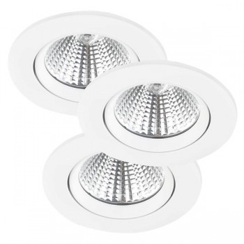 Nordlux Energetic Fremont Triple 4000K Adjustable White LED Downlight Kit