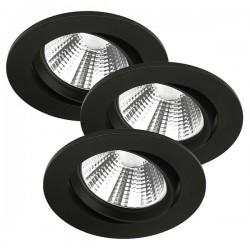 Nordlux Energetic Fremont Triple 4000K Adjustable Black LED Downlight Kit