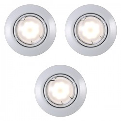 Nordlux Energetic Triton Triple Adjustable White SMD LED Downlight Kit