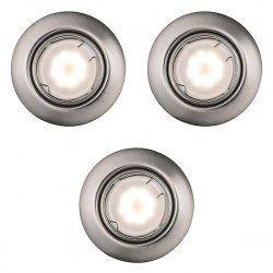 Nordlux Energetic Triton Triple Adjustable Brushed Steel SMD LED Downlight Kit