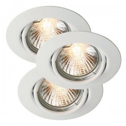 Nordlux Energetic Triton Triple Adjustable White Downlight Kit