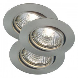 Nordlux Energetic Triton Triple Adjustable Brushed Steel Downlight Kit