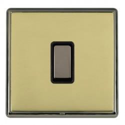 Hamilton Linea-Rondo CFX Black Nickel/Polished Brass 1 Gang Multi way Touch Master Trailing Edge with Bla...