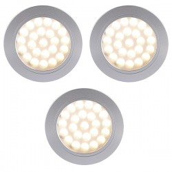 Nordlux Energetic Cambio Triple Built In/On Aluminium LED Downlight Kit