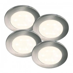Nordlux Energetic Lismore Quad Built On Chrome LED Downlight Kit
