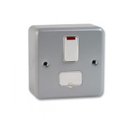 MK Electric Metalclad Plus™ 13A Double Pole Switched Fused Connection Unit with Neon