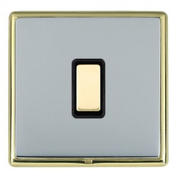 Hamilton Linea-Rondo CFX Polished Brass/Bright Steel 1 Gang Multi way Touch Master Trailing Edge with Bla...