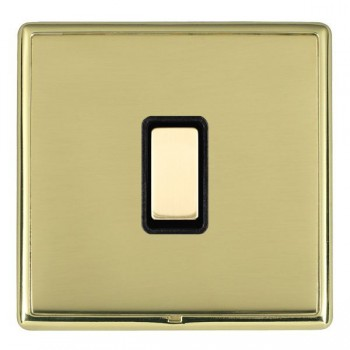 Hamilton Linea-Rondo CFX Polished Brass/Polished Brass 1 Gang Multi way Touch Master Trailing Edge with Black Insert