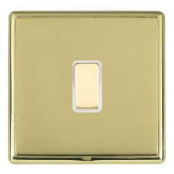 Hamilton Linea-Rondo CFX Polished Brass/Polished Brass 1 Gang Multi way Touch Master Trailing Edge with W...