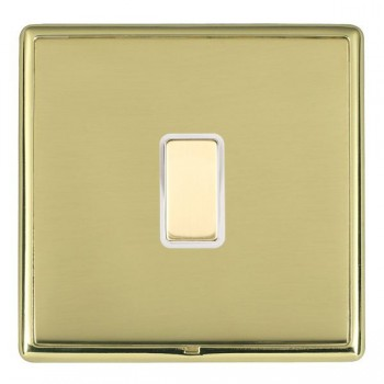 Hamilton Linea-Rondo CFX Polished Brass/Polished Brass 1 Gang Multi way Touch Master Trailing Edge with White Insert