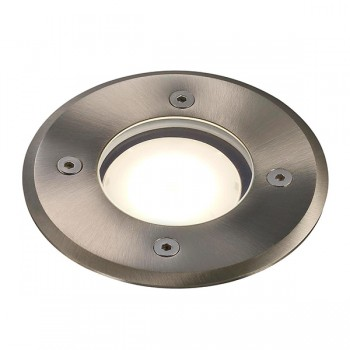 Nordlux Energetic Pato Round Stainless Steel Outdoor Ground Light