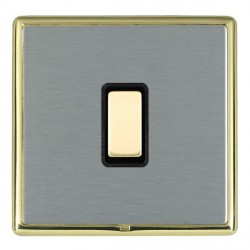 Hamilton Linea-Rondo CFX Polished Brass/Satin Steel 1 Gang Multi way Touch Master Trailing Edge with Blac...