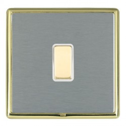 Hamilton Linea-Rondo CFX Polished Brass/Satin Steel 1 Gang Multi way Touch Master Trailing Edge with Whit...