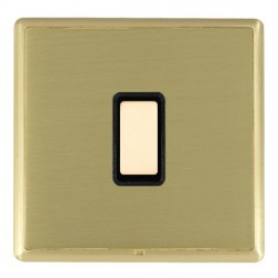 Hamilton Linea-Rondo CFX Satin Brass/Satin Brass 1 Gang Multi way Touch Master Trailing Edge with Black I...