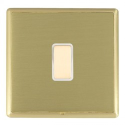 Hamilton Linea-Rondo CFX Satin Brass/Satin Brass 1 Gang Multi way Touch Master Trailing Edge with White I...