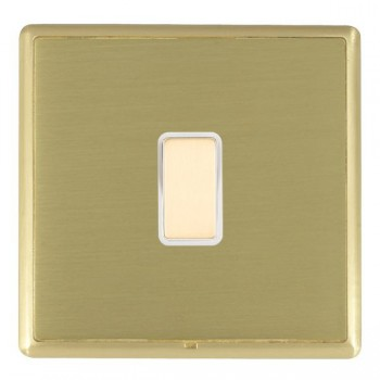 Hamilton Linea-Rondo CFX Satin Brass/Satin Brass 1 Gang Multi way Touch Master Trailing Edge with White Insert
