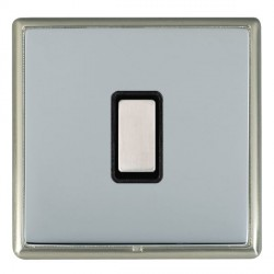 Hamilton Linea-Rondo CFX Satin Nickel/Bright Steel 1 Gang Multi way Touch Master Trailing Edge with Black...