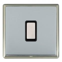 Hamilton Linea-Rondo CFX Satin Nickel/Bright Steel 1 Gang Multi way Touch Master Trailing Edge with Black...