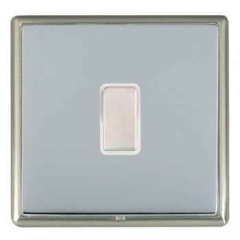 Hamilton Linea-Rondo CFX Satin Nickel/Bright Steel 1 Gang Multi way Touch Master Trailing Edge with White Insert