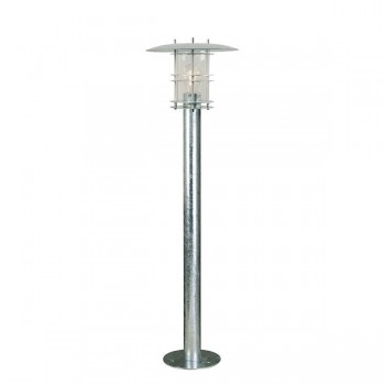 Nordlux DFTP Fredensborg Galvanised Steel Outdoor Bollard Light