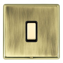 Hamilton Linea-Rondo CFX Polished Brass/Antique Brass 1 Gang Multi way Touch Slave Trailing Edge with Bla...