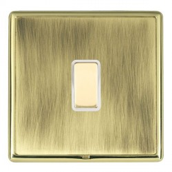 Hamilton Linea-Rondo CFX Polished Brass/Antique Brass 1 Gang Multi way Touch Slave Trailing Edge with Whi...