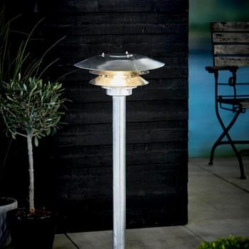 Nordlux DFTP Veno Galvanised Steel Outdoor Bollard Light