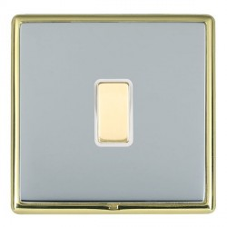 Hamilton Linea-Rondo CFX Polished Brass/Bright Steel 1 Gang Multi way Touch Slave Trailing Edge with Whit...