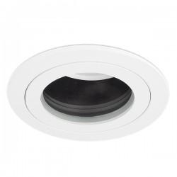 Aurora Lighting EDLM Pro IP65 50W Fixed GU10 Downlight with Matt White Bezel and Black Baffle