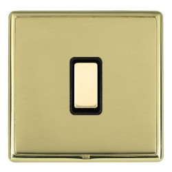 Hamilton Linea-Rondo CFX Polished Brass/Polished Brass 1 Gang Multi way Touch Slave Trailing Edge with Bl...