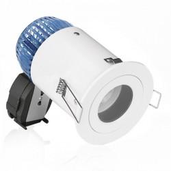 Aurora Lighting EFD IP44 50W Fixed GU10 Downlight with Matt White and Black Baffle