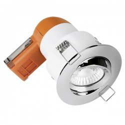 Aurora Lighting E6 Pro 6W 3000K Dimmable Adjustable LED Downlight with Polished Chrome Bezel
