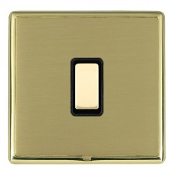 Hamilton Linea-Rondo CFX Polished Brass/Satin Brass 1 Gang Multi way Touch Slave Trailing Edge with Black...