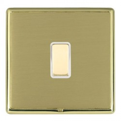 Hamilton Linea-Rondo CFX Polished Brass/Satin Brass 1 Gang Multi way Touch Slave Trailing Edge with White...