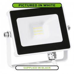Aurora Lighting QuaZar 10W 4000K Black Driverless LED Floodlight - 900lm