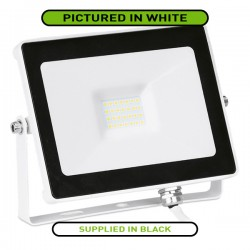 Aurora Lighting QuaZar 20W 4000K Black Driverless LED Floodlight - 1800lm
