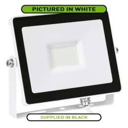 Aurora Lighting QuaZar 30W 4000K Black Driverless LED Floodlight - 2700lm