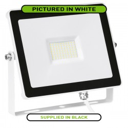 Aurora Lighting QuaZar 50W 4000K Black Driverless LED Floodlight - 5000lm