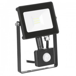 Enlite QuaZarPIR 10W 4000K Black Driverless LED Floodlight