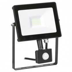 Aurora Lighting QuaZarPIR 20W 4000K Black Driverless LED Floodlight