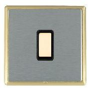 Hamilton Linea-Rondo CFX Satin Brass/Satin Steel 1 Gang Multi way Touch Slave Trailing Edge with Black In...