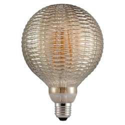 Nordlux Avra Bamboo 2W 2200K Non-Dimmable E27 Smoked LED Bulb