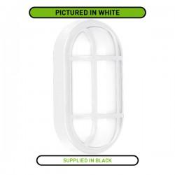 Aurora Lighting 215x115mm Oval Black Grille Bezel for Utilite Bulkheads