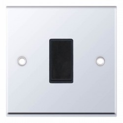 Selectric 7M Polished Chrome 1 Gang 10A Intermediate Switch with Black Insert