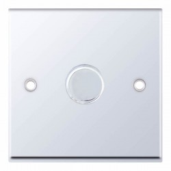 Selectric 7M Polished Chrome 1 Gang 400W 2 Way Dimmer Switch