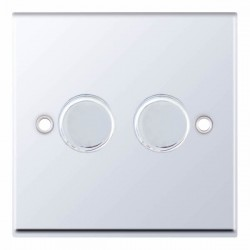 Selectric 7M Polished Chrome 2 Gang 400W 2 Way Dimmer Switch