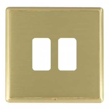 Hamilton Linea-Rondo CFX Satin Brass/Satin Brass 2 Gang Grid Fix Aperture Plate with Grid